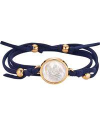 Asha - Skull & Bones Suede Wrap Bracelet - Lyst