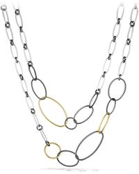 David Yurman - 'mobile' Link Necklace With Gold - Lyst