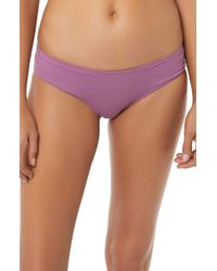 O'neill Sportswear - Salt Water Solids Hipster Bikini Bottoms - Lyst