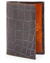 Bosca | Embossed Leather Card Case | Lyst