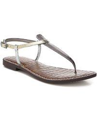 38c6bbab272ed3 Lyst - Sam Edelman Gigi Leather Thong Sandal in Metallic