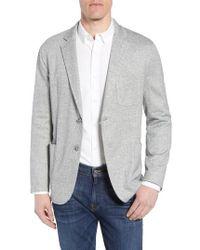 Bugatchi - Regular Fit Herringbone Cotton & Linen Blazer - Lyst