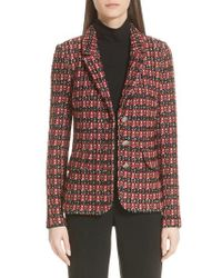 St. John - Tweed Knit Jacket - Lyst