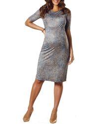 ed5471fc8d81 Lyst - Boohoo Anna Soft Knit Rib Midi Jumper Dress in Gray