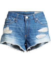 Rag & Bone 'the Cutoff' Denim Shorts - Blue