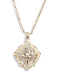 Kendra Scott Kacey Pendant Necklace - Metallic