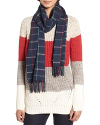 Barbour - Country Tattersall Wool Scarf - Lyst