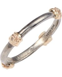 Armenta New World Crivelli Diamond Station Stackable Band Ring - Metallic