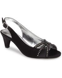 David Tate Regal Embellished Slingback Sandal - Black