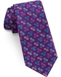 Ted Baker Floral Silk Tie - Blue