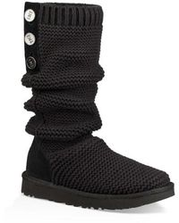 UGG - Ugg Purl Cardy Knit Boot - Lyst