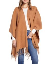 Nordstrom Wool & Cashmere Ruana - Brown