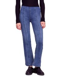 Free People - Slim Pull-on Flare Jeans - Lyst