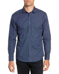 Vince Camuto - Long Sleeve Check & Dobby Sport Shirt - Lyst