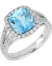 Bony Levy - Square Aquamarine & Diamond Ring (trunk Show Exclusive) - Lyst