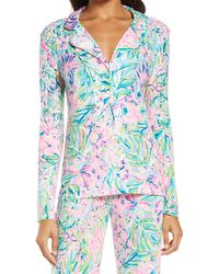 Lilly Pulitzer Lilly Pulitzer Notched Collar Pajama Top - Blue
