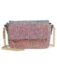 mali + lili - Mali + Lili Multi Glitter Crossbody Bag - Metallic - Lyst