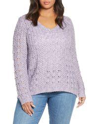 Caslon - Caslon Brushed V-neck Sweater - Lyst