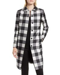 Anne Klein - Large Check Coat - Lyst