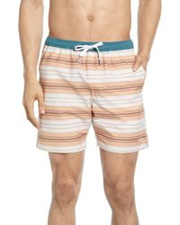 Rhythm - Coastal Stripe Swim Trunks - Lyst