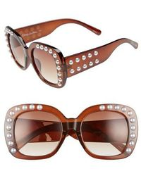 Circus by Sam Edelman - 53mm Imitation Pearl Sunglasses - - Lyst