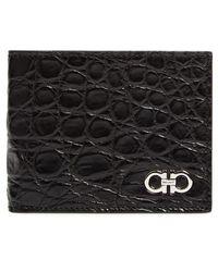 Ferragamo - Crocodile Leather Wallet - Lyst