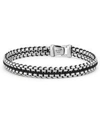 David Yurman Woven Box Chain Bracelet In Black - Metallic