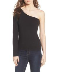 Project Social T | Second Skin One-shoulder Top | Lyst