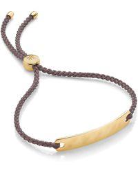 Monica Vinader Engravable Havana Mini Friendship Bracelet - Metallic