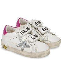 51d07d877d90 Golden Goose Deluxe Brand - Glitter Old School Sneaker - Lyst