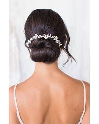 Brides & Hairpins Themis Crystal & Pearl Halo Comb - Metallic