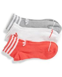 adidas - Originals 3-pack Ankle Socks, Pink - Lyst