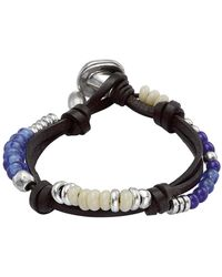 Uno De 50 Freedom Vibes Crystal Beaded Bracelet - Blue