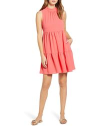 Gibson X The Motherchic Lakeshore Tiered Dress - Pink