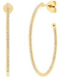 Ron Hami - 14k Yellow Gold Diamond Inside Out Hoop Earrings - 0.35 Ctw - Lyst