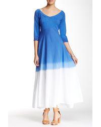 Luna Luz - V-neck Dip-dye Maxi Dress - Lyst