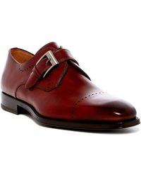 Magnanni Carey Monk Strap Loafer - Red