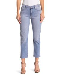 Hudson Jeans Nico Mid Rise Cropped Straight Leg Jeans - Blue