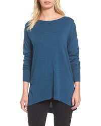 Caslon - Zip Back High/low Tunic Jumper - Lyst