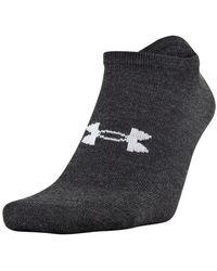 Under Armour Essential Lite No Show Socks - Black