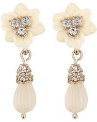 Marchesa - Floral Drop Earrings - Lyst