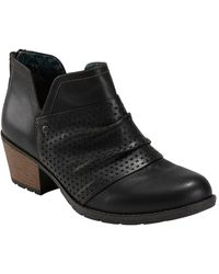 Earth Oakland Amanda Perforated Bootie - Black