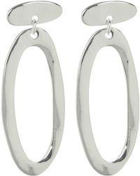 Robert Lee Morris - Hammered Sculptural Drop Earrings - Lyst