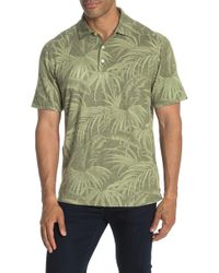 Tommy Bahama Midnight Flora Linen Blend Polo - Green
