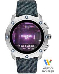 DIESEL Axial Denim Strap Smartwatch - Multicolor