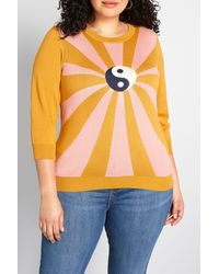 ModCloth Yin Yang Charm School Sweater - Yellow