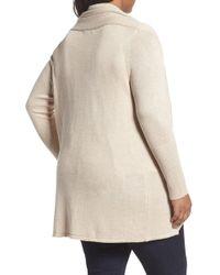 Sejour - Cocoon Cardigan (plus Size) - Lyst