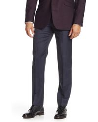 "Brooks Brothers - Pinstriped Flat Front Trousers - 30-34"" Inseam - Lyst"