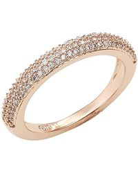 Nadri - Stackable Pave Cz Band - Size 8 - Lyst