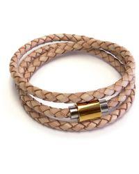Liza Schwartz Original Triple Wrap Camel Premium Leather Bracelet
